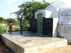 Rainwater Harvesting underneath tank in the day school,Village Patan-Rajasthan