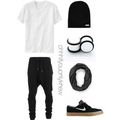 Untitled #244 by ohhhifyouonlyknew on Polyvore featuring Forever 21, Old Navy, Balmain, Neff and NIKE