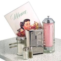 Retro 50s Diner Style Tableware Set, on all the tables we can get this from anyone, very cool
