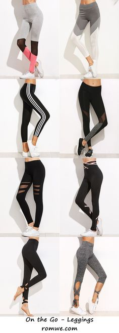 639d069857f1 Sporty Leggings - Comfy and Chic from romwe.com Pantalon Fitness Femme,  Vetement Sport