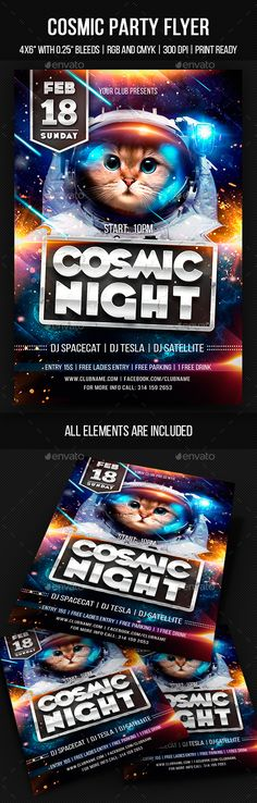 #Cosmic #Party #Flyer - Clubs & Parties Events