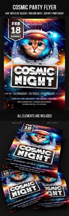 Cosmic Party Flyer