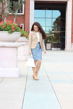 "Petite Style via StylishPetite.com | The Limited Petite Collection. ""I'm a sucker for suiting and classic peices. I love that their core suiting consistently uses the same colors and fabrics so each item can transition through each season. This is why I chose the collection one button jacket in camel. It's a classic jacket that I can wear multiple ways (with skirts, pants and dresses)"" #TheLimited #StylishPetite #BloggerStyle #Petites #Versatile #OOTD"