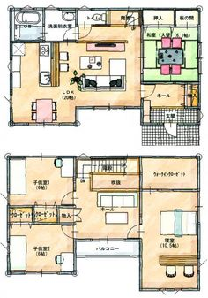 間取りルミナス Small Apartment Plans, Apartment Layout, Sims House Plans, House Floor Plans, Japan House Design, Japanese Modern House, Architectural House Plans, Floor Plan Layout, Earth Homes