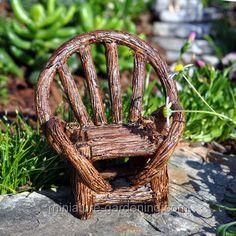 Appalachian Chair  #miniature #gardening #fairy