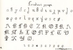 Greek Calligraphy fonts. Article about the calligraphy that was once taught in Greek schools. Finally images of the entire alphabet in different styles, so that I can practice!