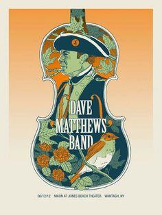 Dave Matthews Band Posters Nikon Jones Beach, Wantagh, NY June 12, 2012 (night 1)