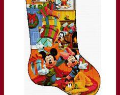cross stitch pattern, cross stitch - Christmas stockings 2 - PDF pattern, christmas cross stitch, instant download