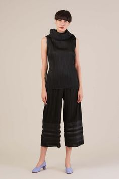Turtleneck Tank Black by Pleats Please by Issey Miyake