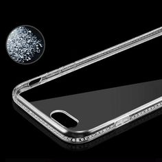 Luxury Bling Rhinestone Diamond Clear Case for Apple iphone 6 6S Plus 5 5 Back Crystal. Click visit to buy #RhinestoneCase #rhinestone #case