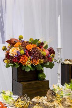 Autumn decor, цветочная композиция