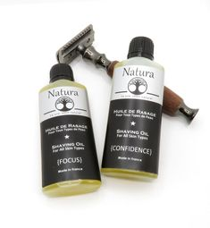 Shaving oil for Men and Women - Natura - Pre-shave Oil for all Skin Types, All Natural Shaving Oil Oils For Men, Pre Shave, Shaving Oil, Handmade Gift Tags, Flower Oil, Melaleuca, Travel Size Products, Natural Skin Care, Plant