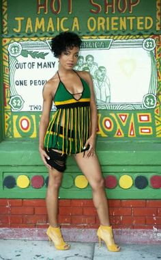She got style jamaican flag fashion