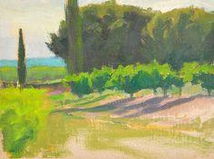 "St. Hippolyte - Oil on canvas, 6"" x 8"""