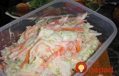 Kipróbált Coleslaw saláta recept egyenesen a Receptneked. Cabbage Salad, Hungarian Recipes, Cooking Recipes, Healthy Recipes, Coleslaw, Fresh Rolls, Potato Salad, Cake Recipes, Food And Drink