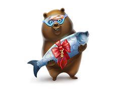Mishka (Bear) by Eugenia Mandrugina