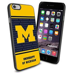 "Michigan Wolverines iPhone 6 4.7"" Case Cover Protector for iPhone 6 TPU Rubber Case SHUMMA http://www.amazon.com/dp/B00T3TNABU/ref=cm_sw_r_pi_dp_.p9lvb1VPT9KM"