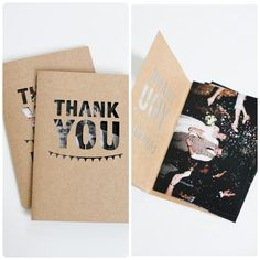 Unique Wedding Photo Thank You Card | DIY | Pinterest | DIY ideas ...