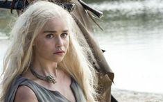 壁紙をダウンロードする エクラーク, シリーズ, イギリス人女優, ゲームを描, daenerys targaryen