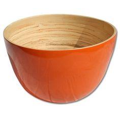 bamboe oranje schaal