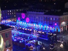 Place Masséna Noël aérien Nice