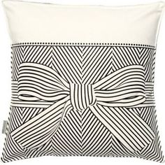 big bow pillow cover