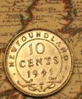 1941 Newfoundland Canada Silver 10 cent coin - Nice Grade lot nl068 - http://coins.goshoppins.com/candaian-coins/1941-newfoundland-canada-silver-10-cent-coin-nice-grade-lot-nl068/