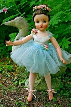 Blue ballerina is in good shape, clean, blue eyes, dark hair. I have other Elise dolls listed if you are interested. Sewing Dolls, Dolls Dolls, Antique Dolls, Vintage Dolls, Vintage Madame Alexander Dolls, Ballerina Doll, Ice Skating Dresses, Vinyl Dolls, Dress Hats
