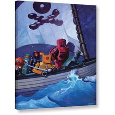 ArtWall Eric Joyner Robpirates Gallery-Wrapped Canvas, Size: 24 x 32, White
