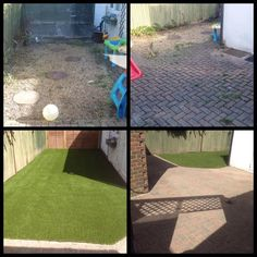 We do love a good before and after photo! Artificial Grass Installation, Do Love