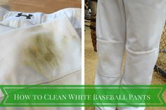 """I've been trying all summer to find a """"how to clean white baseball pants"""" and nothing has worked. Until now."""