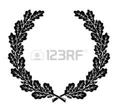 una corona semplificato fatto di foglie di quercia