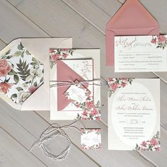 Blush Floral Wedding Invitations with Lace and Twine Tie with Tag This listing is for either a SAMPLE ($6.70), OR DEPOSIT ($100). Please read below for additional information, including pricing details, upgrades and ordering information. A custom listing will be set up for each