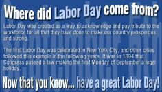 Have a Happy Labor Day!