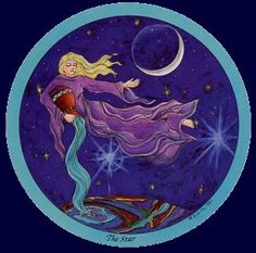 Daughters of the Moon tarot: The Star XVII