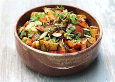 Roasted Mexican Sweet and White Potato Salad