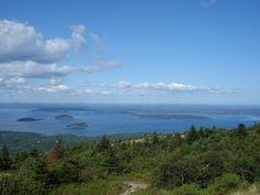 Beautiful Acadia National Park at Bar Harbor, Maine