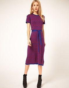 Enlarge ASOS Knitted Midi Dress in Vintage Floral