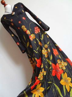 NORMAN HARTNELL  Designer Floral Print Maxi by thingsofsplendor, $59.00