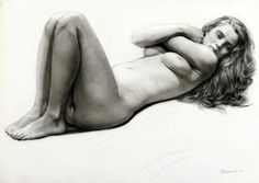 Reclining Figure With Arms Crossed by Steven Assael