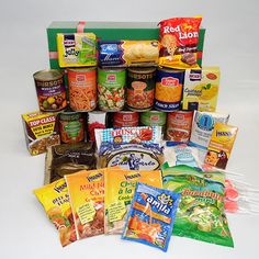 Grocery Hamper Option 4 | Snippets Hampers Spiced Beef, Lemon Cream, Hampers, Baked Beans, Tomato Sauce, Pop Tarts, Brown Sugar, Tea Time, Jelly