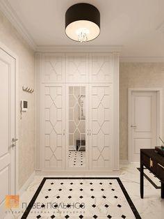 Фото дизайн холла из проекта «Дизайн квартиры в жилом комплексе «ММДЦ Москва Сити», американская классика, 120 кв.м.»