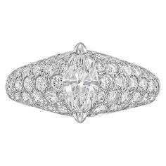 Cartier Marquise-Shaped Diamond Dome Ring $12000.00