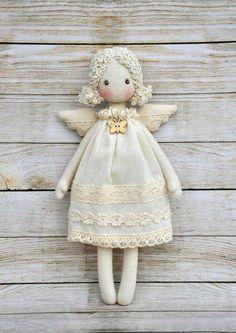 Textile doll Tilda doll Tilda angel от NilaDolss на Etsy | Куклы-куколки | Постила
