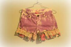 Lavander  Upcycled Wrangler Denim Shorts by GreenOnMe on Etsy, $20.00