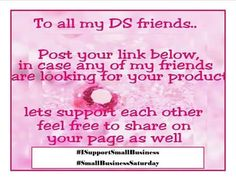 HAPPY SATURDAY EVERYONE!!!  #ISupportSmallBusiness #SmallBusinessSaturday  To All My Direct Selling & Work From Home Entrepreneur Friends... Post Your Link Below In Case Any Of My Friends Are Looking For Your Product. Let's Support Each Other. Feel Free To Share On Your Page As Well.  From Author Clarine Brown & Aquaward Beauty  Shop Stress Free with Aquawardbeauty   http://ift.tt/1tvdab2   Get Author CLARINE's Books here.   http://ift.tt/1NRb12Q   #ISupportSmallBusiness…