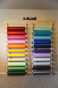Pick any 5 Sheets of Vinyl - Several Colors Available - Wall Vinyl Sheets - Home Decor Vinyl - Vinyl for the Cricut Silhouette Craft Room Storage, Craft Organization, Diy Vinyl Storage, Organizing Life, Paper Storage, Cricut Craft Room, Cricut Vinyl, Vinyl Sheets, Craft Stick Crafts
