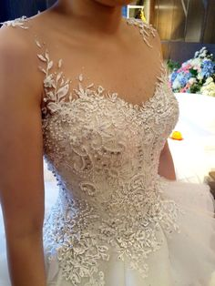 Corsetery detail for Siska Lie wedding dress…handmade using pearl, crystal and…
