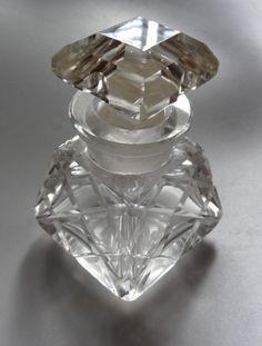 Antique Victorian Perfume Bottle Vintage Vanity Barber Shop   eBay