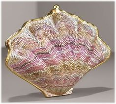 How is it possible that purses can be so beautiful?  Case in point: this Judith Leiber shell clutch.